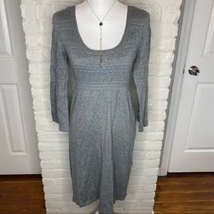 H&M Gray 3/4 Sleeves Sweater Dress Size S